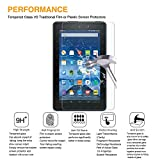2-Pack All-New Fire 7 Tablet Screen Protector(7th Gen,2017 Release,NOT fit 5th 2015),DHZ Tempered Glass Screen Protector Film for Amazon Fire 7 2017 [9H Hardness] [Crystal Clear] [Bubble Free]