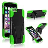 "iPhone 6/6s Plus Case, Insten T-Stand Cover Case compatible with Apple iPhone 6 Plus (5.5"") , Black/Neon Green"