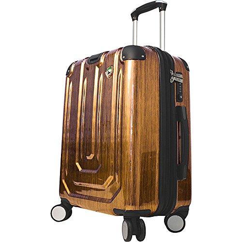 mia-toro-luggage-spazzolato-metallo-hardside-spinner-carry-on-gold-one-size