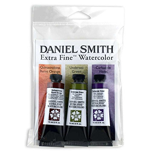 DANIEL SMITH 285250077 Extra Fine Secondary Watercolor Set, 3 Tubes, 15ml (Green 5 Ml Tube)