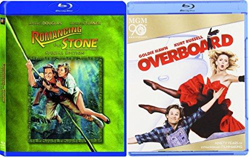 Overboard   Romancing The Stone    Blu Ray Fun Comedy 80S Fun Movie Set