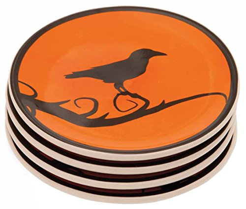 Boston International Hallowchic Tidbit Plates (Ceramic Plates Halloween)