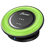 Seneo Fast Wireless Charger, Adjustable Qi Wireless Charger Pad for Qi-Enabled Devices Samsung Galaxy Note 8 S8 S8 Plus S7 S7 Edge S6 Edge Plus Note 5 and Standard Charging for Apple iPhone X/8/8 Plus