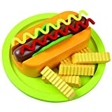 Viga KiddyPlay Wooden Hot Dog & Fries Set - Childrens Play Food