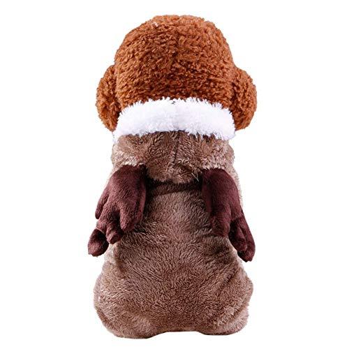 RSHSJCZZY Pet Winter Keep Warm Costumes Puppy Jumpsuit Coat Soft Fleece Hoodies Apparel Colothes -