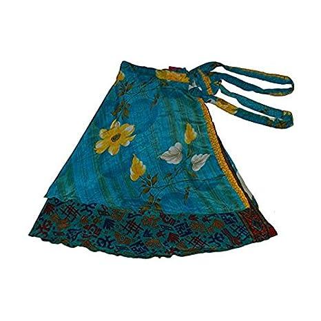 Wevez sari Reversible para mujer, seda, falda, Mujer, color ...