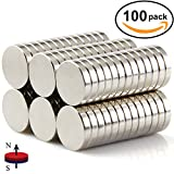 DIYMAG Refrigerator Magnets, 10x2 mm Round Cylinder Magnets Perfect Magnetic Push Pins, Office Magnets, Dry Erase Board Magnetic pins, Map Pins & Bonus