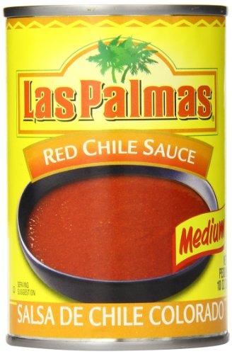Las Palmas Red Chile Sauce, Medium, 10 Ounce (Pack of 24) Las Palmas Chili Sauce
