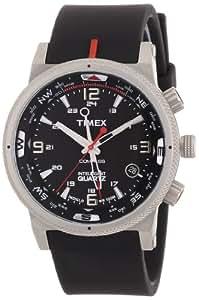 Timex Expedition E-Compass T49817 - Reloj de caballero de cuarzo, correa de textil color negro (con luz)