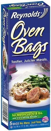 Reynolds Oven Cooking Bags-Large Size for Meats & Poultry, 5 Count Boxes, 8 Pack=40 bags