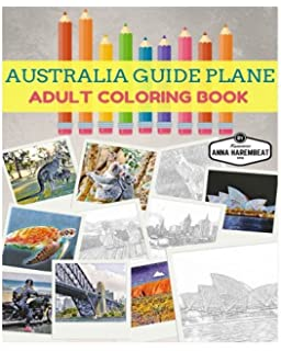 Australia Guide Plane Adult Coloring Book