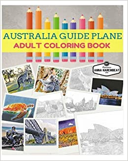 Amazon Australia Guide Plane Adult Coloring Book 9781539918004 Anna Harembeat Books