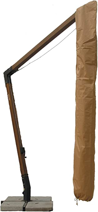 Copertura del Parasole del Giardino di Oxford Beige ombrelloni Beige Opzionale Copertura Resistente del baldacchino per Esterno Facile da smontare e Regolabile per la casa Grigia