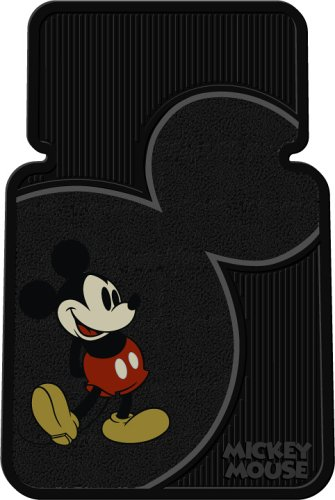 Plasticolor Vintage Mickey Mouse Universal-Fit Molded Front Floor Mats - Set of 2 001372R01