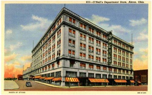 Photo Reprint O'Neil's Department Store, Akron, Ohio - Ohio Store Summit