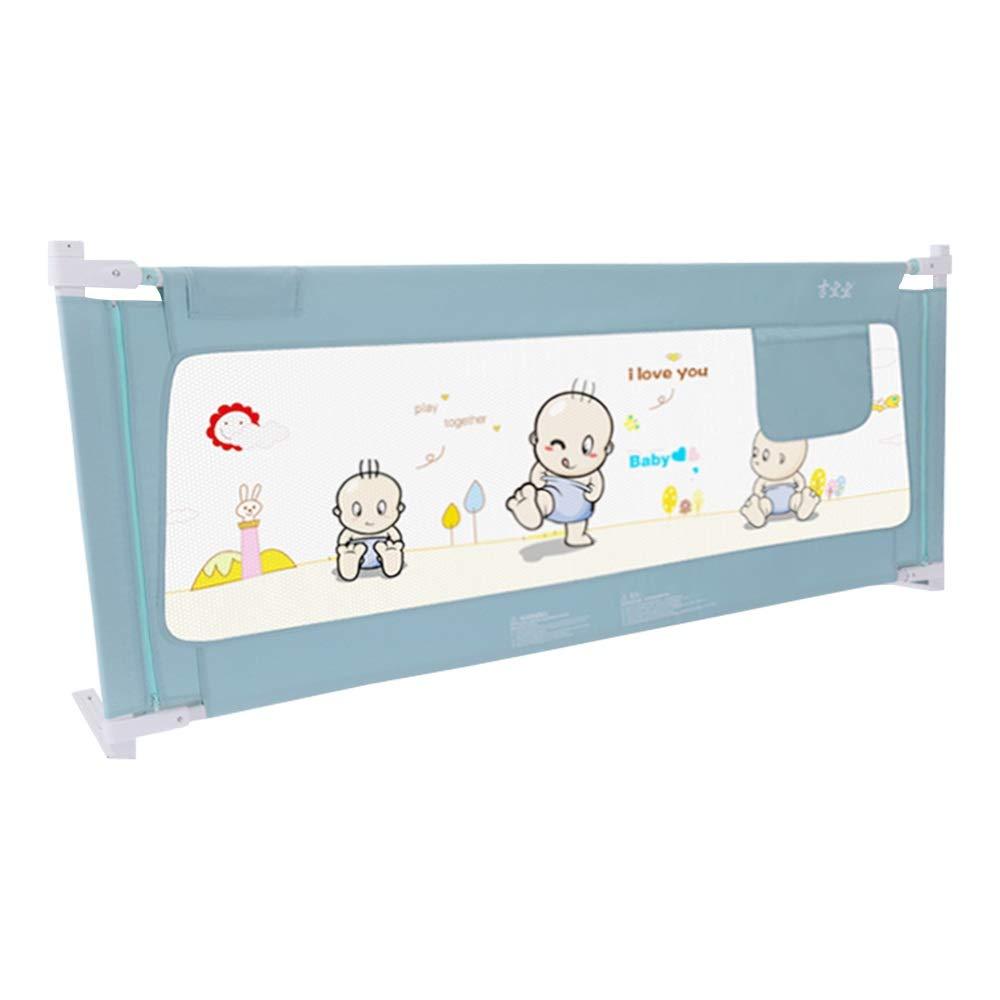 HUO ベッドフェンス 幼児のためのベッドの柵幼児のための反落下ベッドのガードレール子供および子供の保護安全な幼児用ベッドの柵の収縮 (Color : Blue, Size : 200cm) 200cm Blue B07SHZ2K32