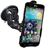 Amzer Suction Cup Mount Holder for Windshield, Dash or Console for LG Optimus G Pro E980 , Retail Packaging, Black