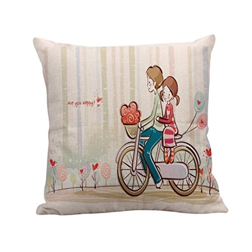 Price comparison product image Lavany Pillow Covers Decorative,  Cartoon Cute Throw Pillow Cases Cotton Linen Sofa Cushion Cover Bed room Home Decor 18x18 (C)