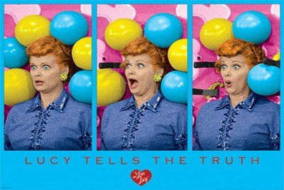 I Love Lucy Balloons Television Poster