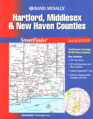 Rand McNally Hartford, Middlesex & New Haven Counties, Conneticut: Street Finder