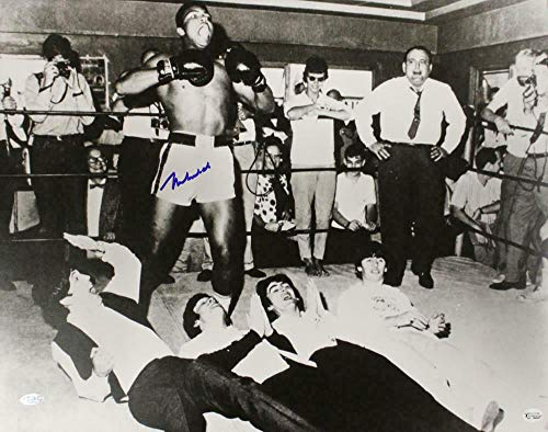Autographed Muhammad Ali Photo - 16x20 Beatles 22159 - Steiner Sports Certified - Autographed Boxing Photos