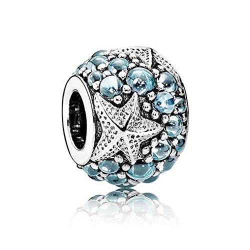 Romántico Amor Women Tropical Seahorse Dangle Charms Silver CZ Enamel Bead fit Pandora Bracelets (3)