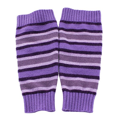 Dikangra Cashmere Stripe Knitted Leg Warmers (Purlpe)