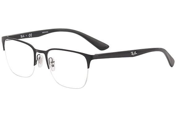 6383976ec8a Ray-Ban 0rx6428 No Polarization Square Prescription Eyewear Frame Top Matte  Black
