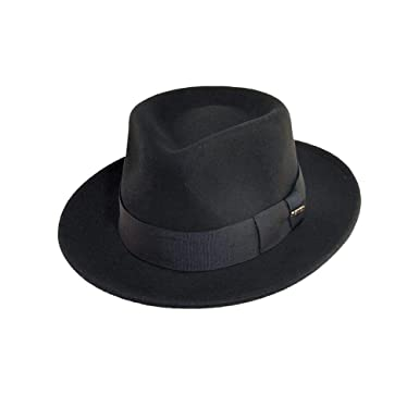 f09eef16015 Scala Classico Men's Crushable Water Repelant Wool Felt Fedora Hat, Black,  Medium
