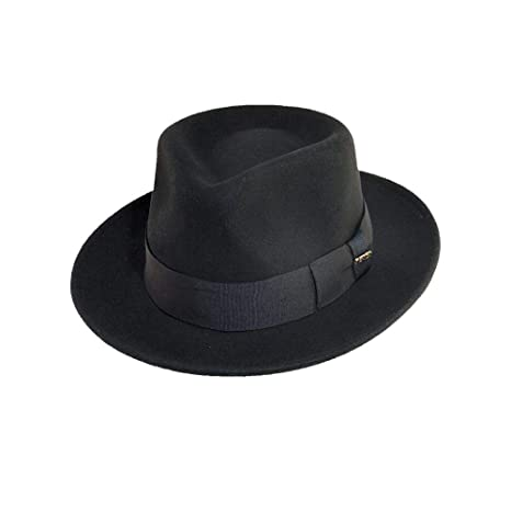 Scala Classico Men's Crushable Wool Felt Fedora by Scala
