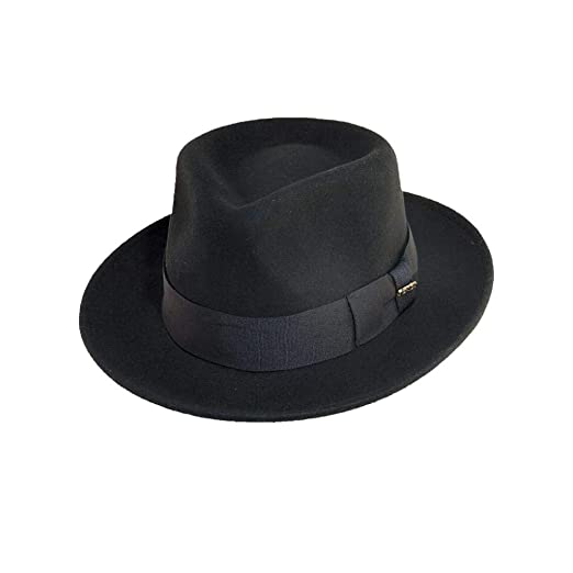 7d5eb35442a SCALA Classico Men s Crushable Wool Felt Fedora at Amazon Men s ...