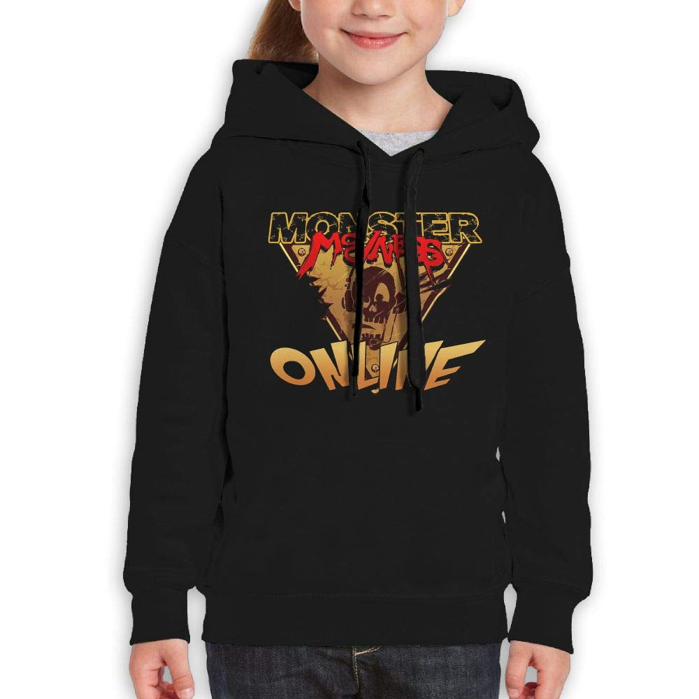 Guiping Monster Madness Youth Pullover Hooded Sweatshirt Black S