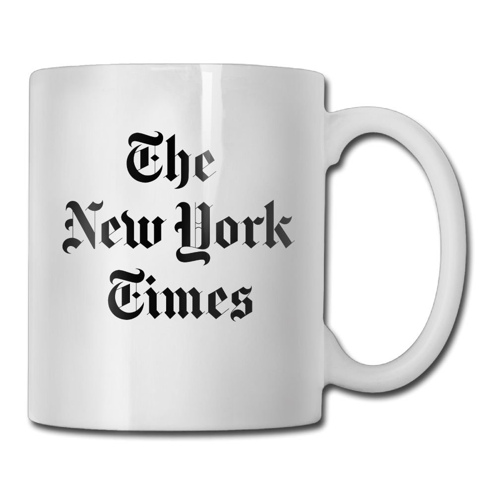 Amazon Com Jingclor New York Times Logo 11 Ounces Coffee Mug Novelty Ceramic White Tea Cup Coffee Tea Cup Gift For Father S Day Or Friend Mother Birthday Industrial Scientific