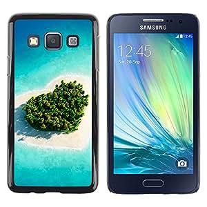 Love Island Vegetación - Metal de aluminio y de plástico duro Caja del teléfono - Negro - Samsung Galaxy A3