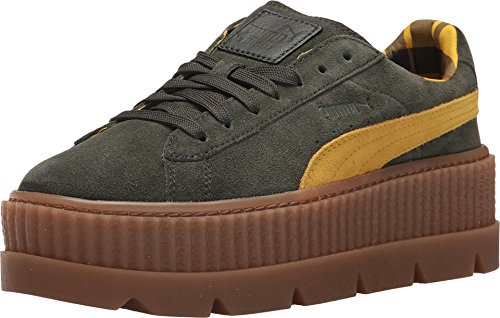 PUMA Women's Cleated Creeper Suede Rosin/Lemon/Vanilla 6 B US