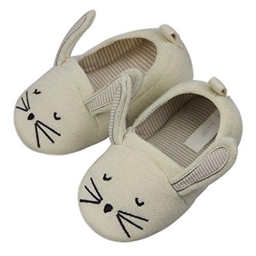 Süße Maus Pantoffeln, Kinder Winter Baumwolle Hausschuhe Baby Plüsch Wärme Weiche Kuschelige Home Rutschfeste Slippers 28/29 19cm Beige(28/29)