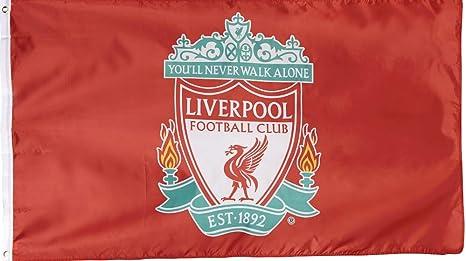 Bandera del escudo del Liverpool FC de Anfield Shop: Amazon.es: Deportes y aire libre