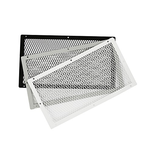 HY-C VG1018G-1G Galvanized Steel Foundation VentGuard with Gray Wildlife Exclusion Screen, 10