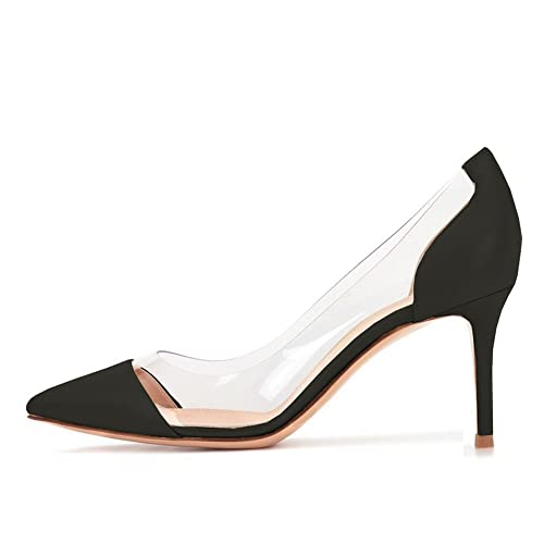 amazing selection shop for newest aesthetic appearance Lutalica Women's AX017 Pointed Toe Transparent Side Clear ...