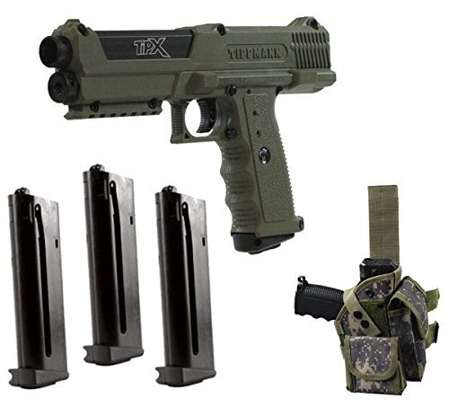- Tippmann TiPX .68 Caliber Deluxe Paintball Pistol Kits (Olive Camo)