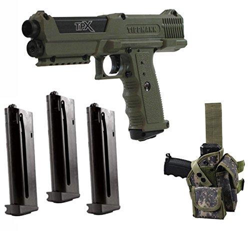 Tippmann TiPX .68 Caliber Deluxe Paintball Pistol Kits (Olive (Tpx Pistol)