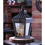 Candles BUNGALOW CANDLE LANTERN Wood Glass Iron Hang Table Desk Bar Mantle Gift Candleholder Light