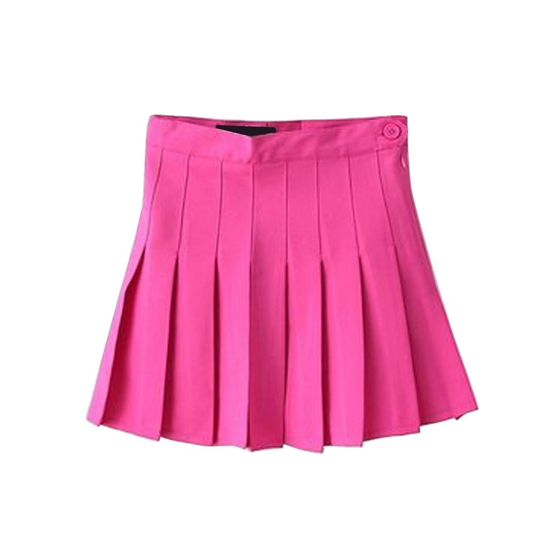 Mesinsefra Girls School Box Pleat Uniform Pressure Pleated Skirt Pleated Tennis Skirts Mini Dress