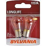 SYLVANIA 1157A Amber Long Life Miniature Bulb, (Contains 2 Bulbs)