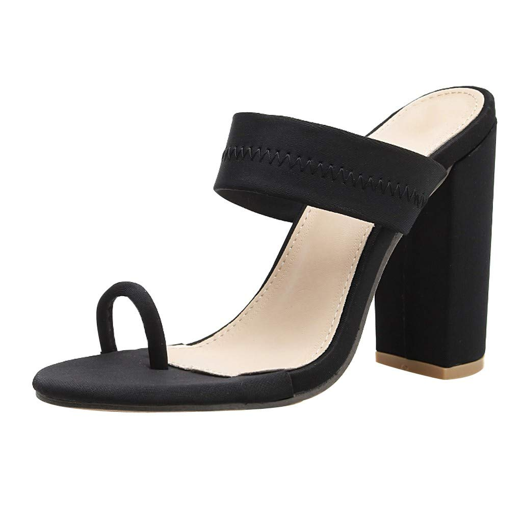 Malbaba Summer Sandals Slippers High Heels Sandals Hollow Women Shoes Sexy Slippers Pump Black
