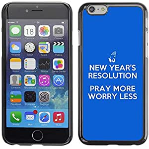 "Planetar® ( Bible Verse-PRAY MORE, WORRY LESS ) 5.5"" iPhone 6 Plus Fundas Cover Cubre Hard Case Cover"