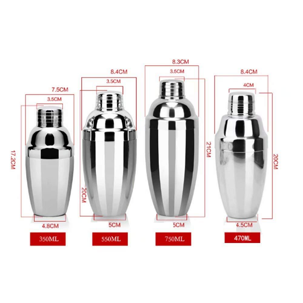 Amazon.com: GL-bar Mini coctelera de metal, 350 ml - Acero ...