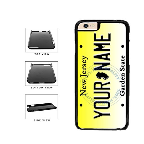 BleuReign(TM) Personalized Custom Name New Jersey State License Plate Plastic Phone Case Back Cover For Apple iPhone 6 Plus and iPhone 6s Plus (5.5 Inches Screen) (Samsung S4 Mini Case Spigen)