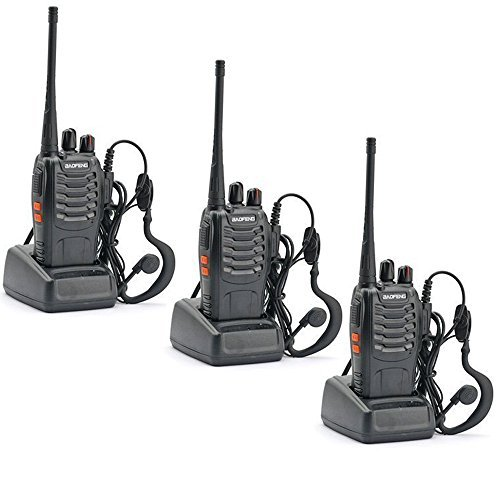 3 Pack Walkie Talkie 16CH Signal Band UHF 400-470 MHz Ammiy