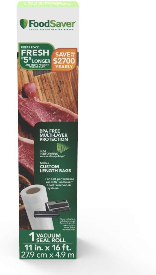 "Amazon.com: גליל שקיות נאטמות בחום ברוחב 27 ס""מ ובאורך 4 מטרים תוצרת FoodSaver: Kitchen & Dining"